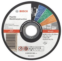 Discuri de taiere drepte Multi Construction D=125mm G=1,6mm